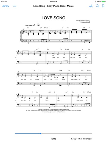 Love Song Sheet Music By Sara Bareilles On Apple Books
