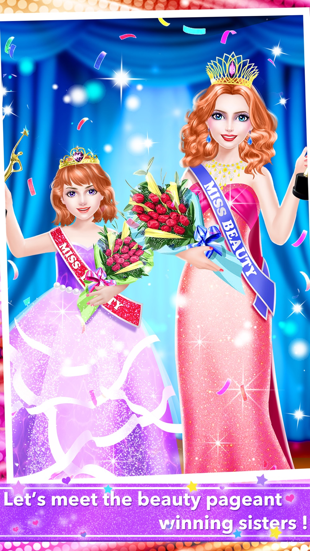 Sisters Beauty Contest – Pageant Queen Salon: Royal SPA, Makeup & Dressup Girls Game for FREE Cheat Codes