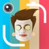实时面部交换凸轮 - 自拍具有屏蔽和表情符号贴纸