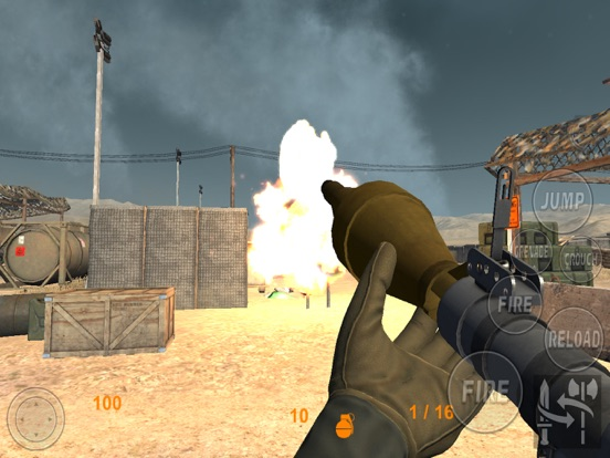 Real Trigger FPS Weapons Shooting Test : Desert Range Mission Game