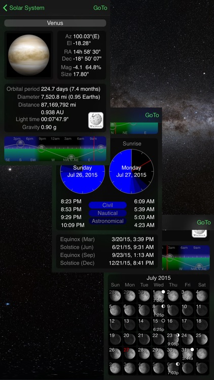 GoSkyWatch Planetarium - Astronomy Guide to the Night Sky app image