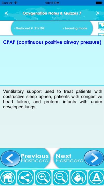Oxygenation Exam Review : 2200 Quiz & Study Notes screenshot-4