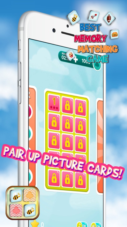Best Memory Matching Game – Brain Train with Picture Card Pair.s for Kids and Adults