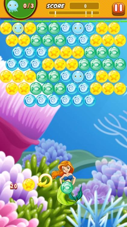 Bubble Shooter Mermaid Ocean : Claim to the throne screenshot-3