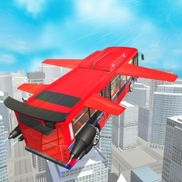 Flying Bus Pilot Simulator - Metro City Heavy Transport Driving and Flying