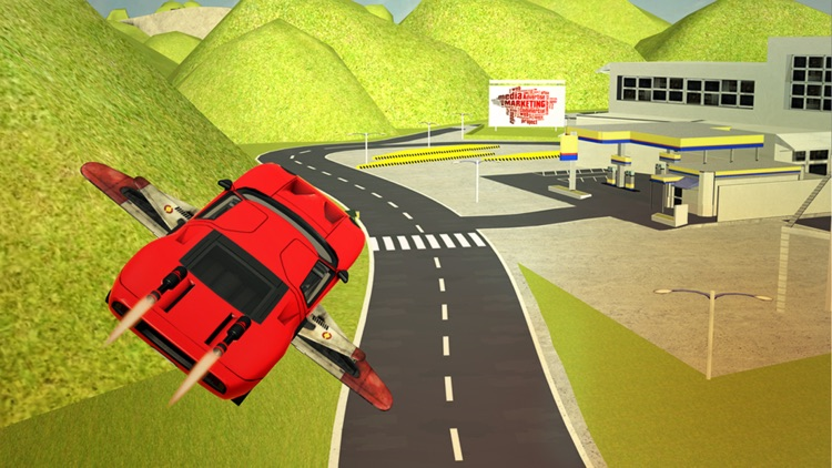 Flying Sport Car Extreme Real Racing 3d simulator screenshot-3