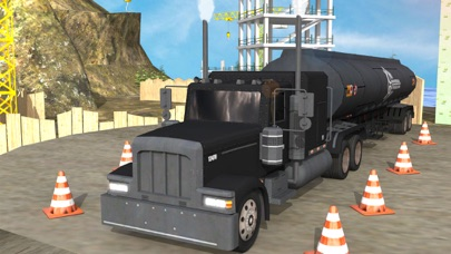 Cargo Truck Parking n Driving on Road of Bones