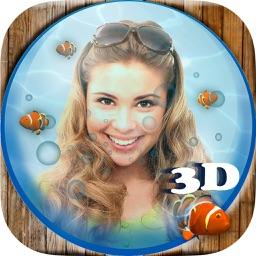 3D animated aquarium - moving fish tank and live wallpaper
