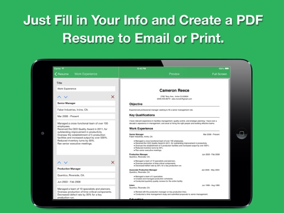 Smart Resume Pro Screenshots