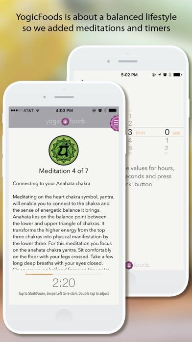Screenshot for YogicFoods - Vegetarian recipes to detox your body and balance your chakras using Kundalini yoga in Venezuela App Store