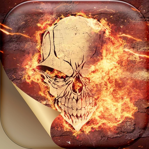 Fire Skull Wallpapers Themes Spooky Skeleton