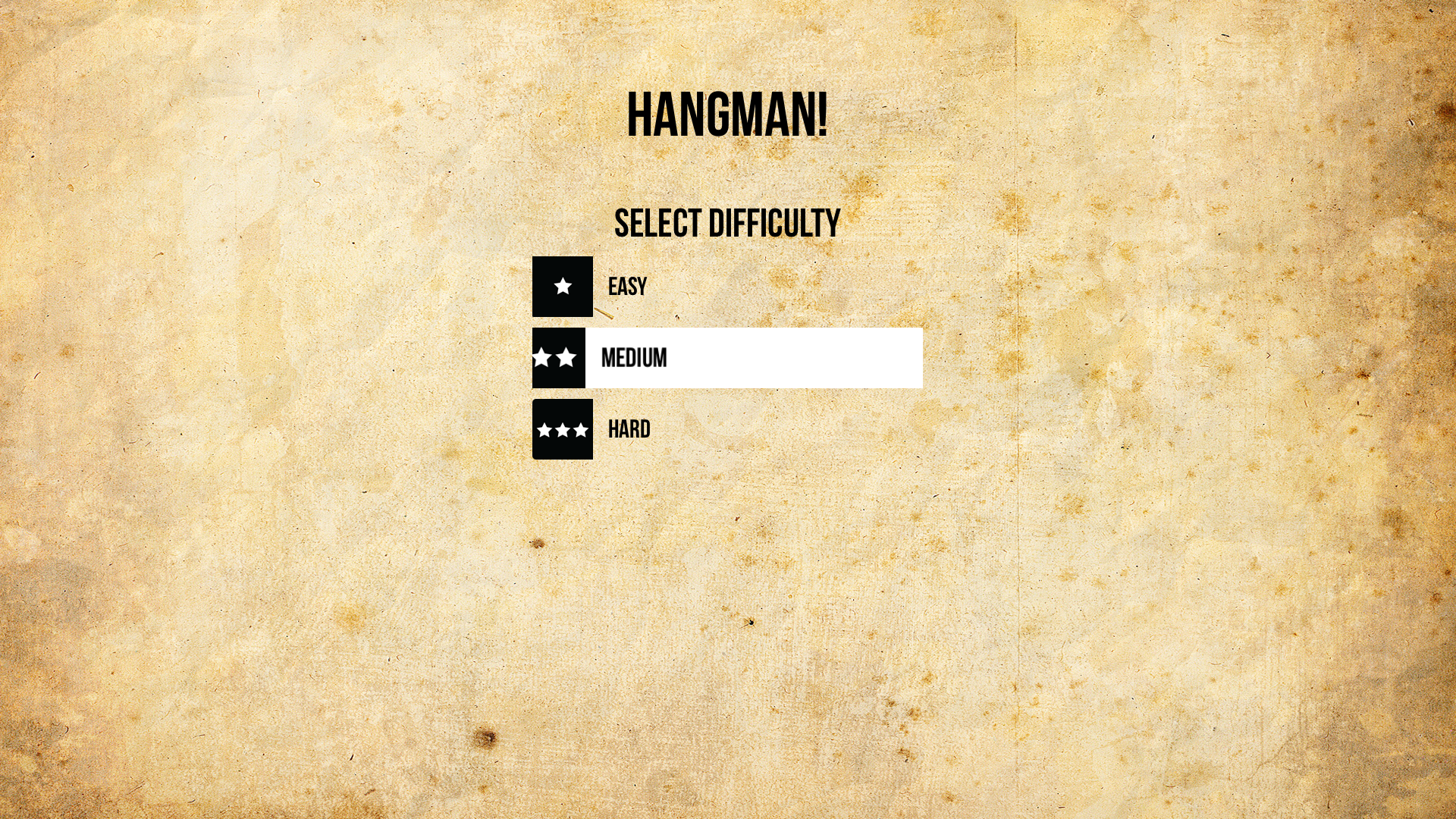 Hangman - A Vocabulary Game screenshot 1