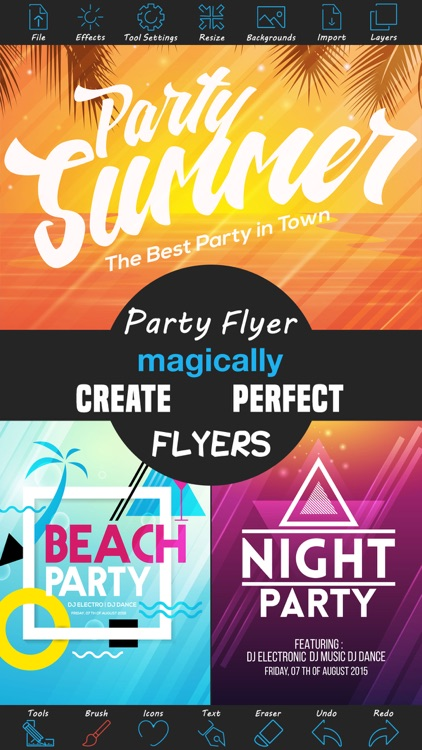 Party Flyer Creator - Flyers for Promotions, Parties, Music, Band and Events