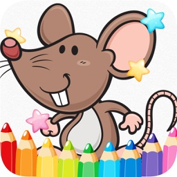 cartoon coloring and painting book for little kid