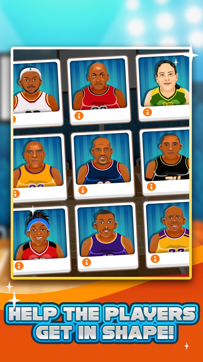 Basketball Fat to Fit Gym - real sports stars jump-ing & run shoot toss game for kids! Screenshot