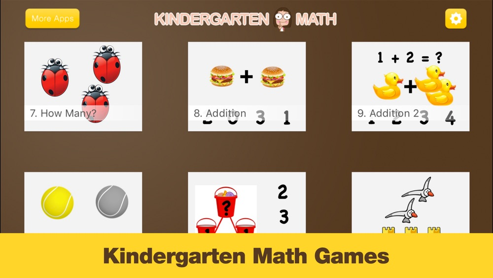 Kindergarten Math – Games for Kids in Pr-K and Preschool Learning First Numbers, Addition, and Subtraction