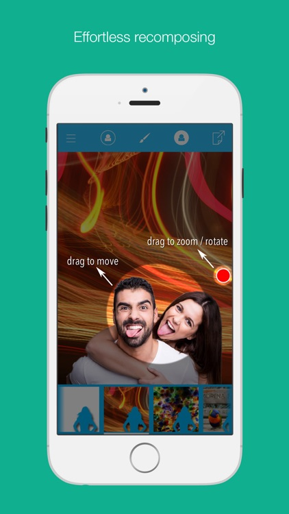 Magic Cam - replace your selfie's background