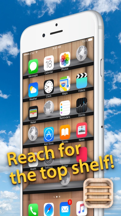 Top Shelves Wallpaper – Home Screen Backgrounds with Shelf, Frame and Sticker Decorations