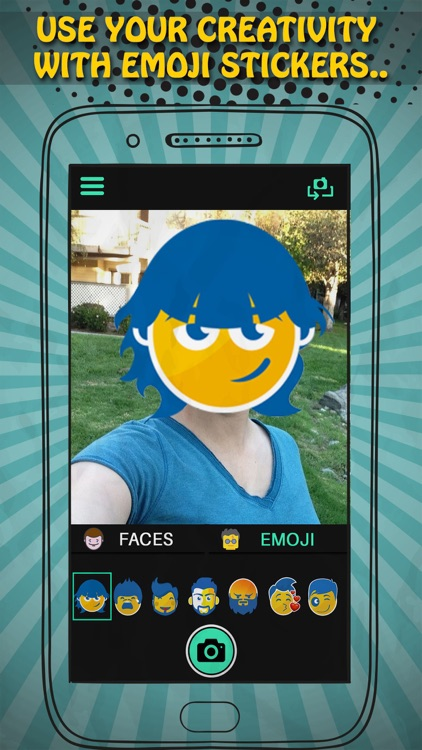 Real Time Face Swap Cam - Selfie With Mask And Emoji Stickers