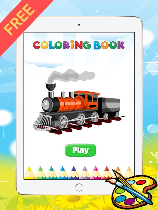 Zug Malbuch für Kid - Fahrzeugzeichnung kostenlose Spiele, gute ...