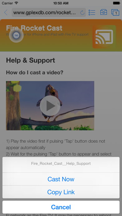 Rocket Fire Video Cast for Amazon TV: Best browser to streams movies using Fling screenshot one