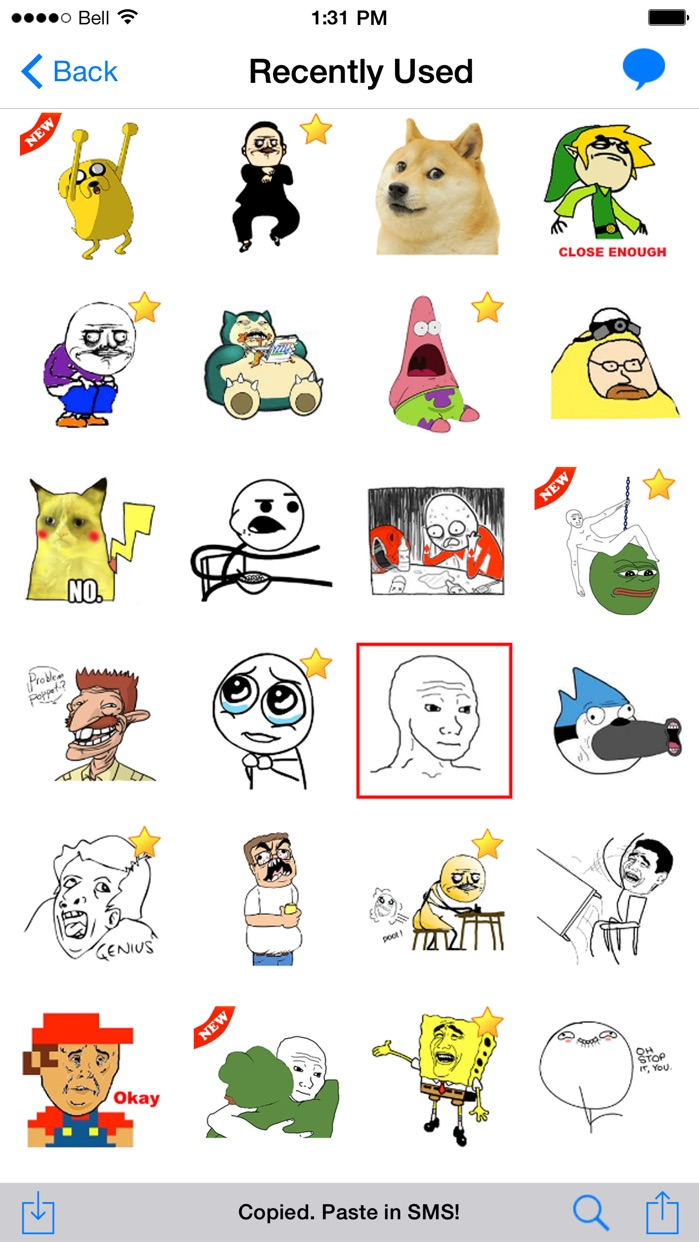 SMS Rage Faces - 3000+ Faces and Memes Screenshot