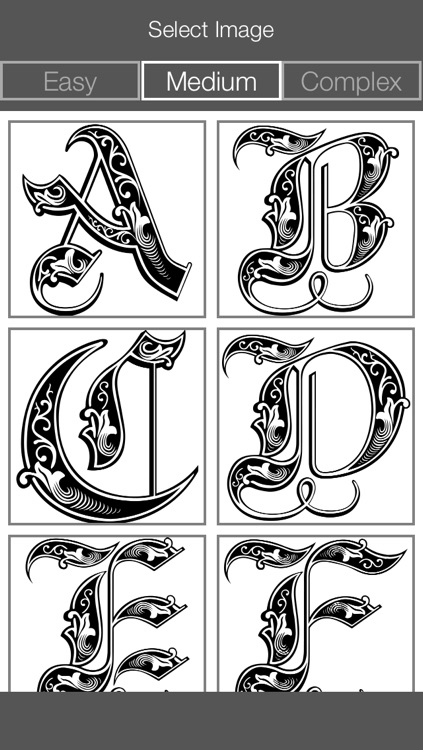 Letter Coloring Pages - Touch Coloring Book for Adults & Kids screenshot-3