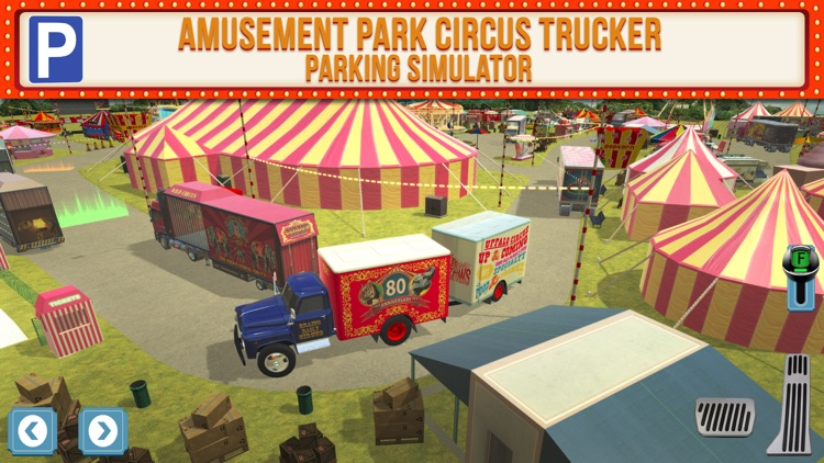 Amusement Park Fair Ground Circus Trucker Parking Simulator screenshot-0