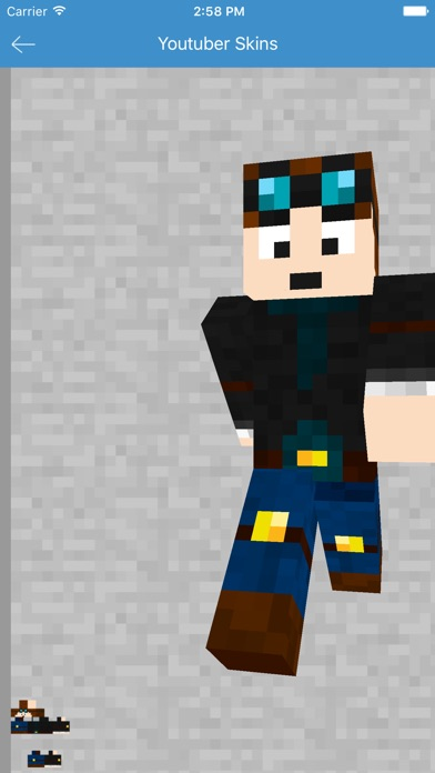 Youtuber Skins - Best for Minecraft PE Free App-2