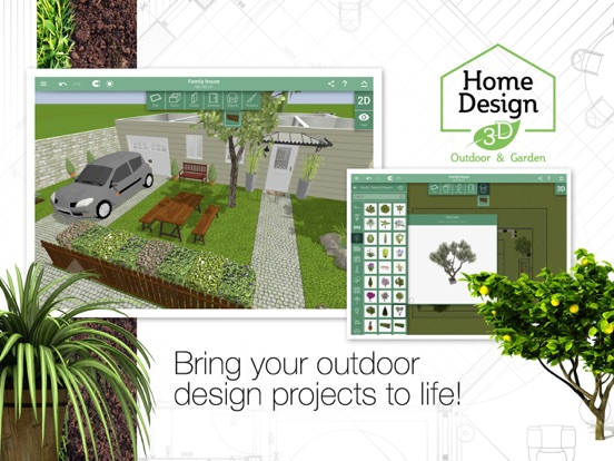 Screenshot #3 for Home Design 3D Outdoor&Garden