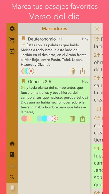 la Biblia, Spanish bible screenshot-4