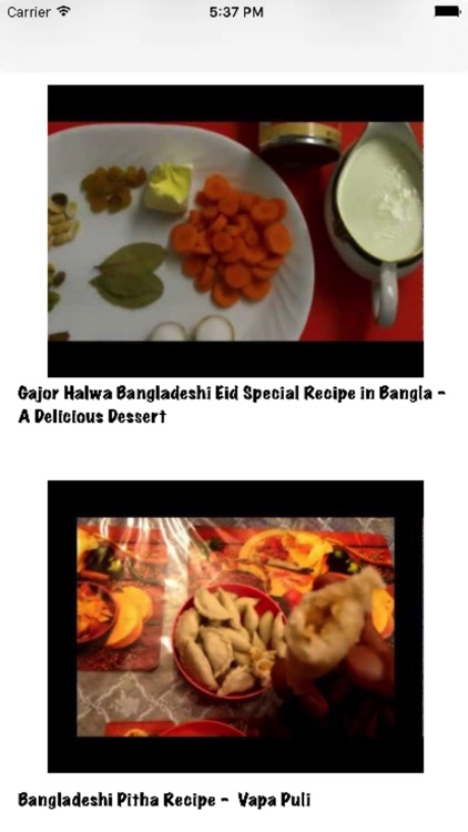 Bangladeshi Recipes (videos)