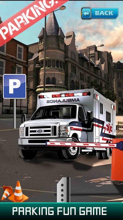 City Ambulance Parking Simulator - Test Your Driving Skill on Emergency Vehicle screenshot-4