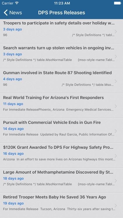 Arizona Department of Public Safety Mobile screenshot-4