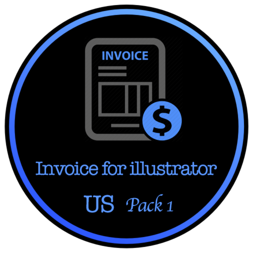 Invoice for Adobe illustrator - Package One for US Size
