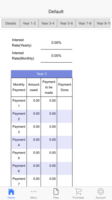 Mortgage Pay Tracker Screenshots