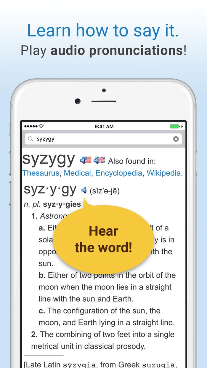 Dictionary. Screenshot