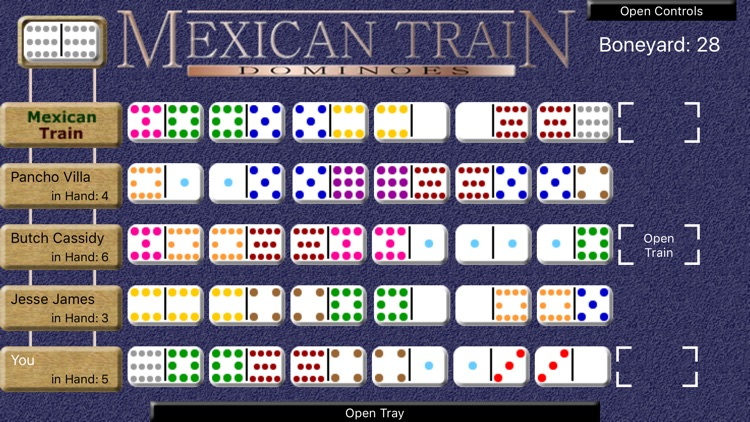 Mexican Train Dominoes Deluxe