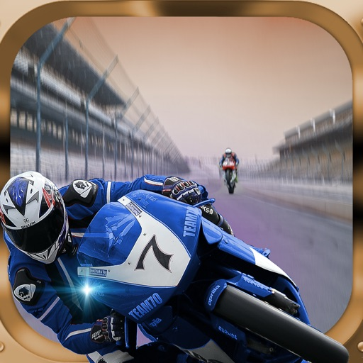 A Fast Motorcycle Racing Fury - A Lighted Track