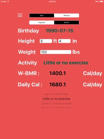 Bmr calculator | calorie check book.
