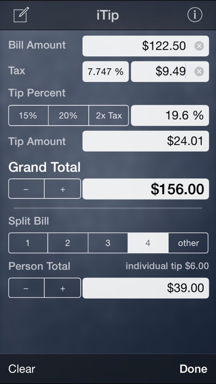iTip Calc by PalaSoftware