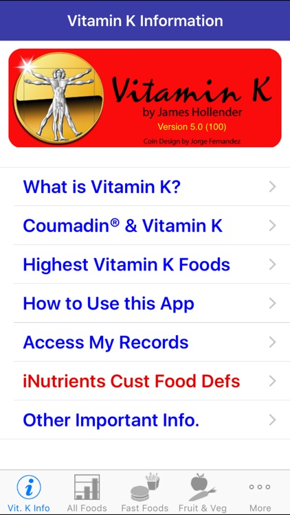 Vitamin K - iNutrient: Vitamins K1, K1D & K2 screenshot-0