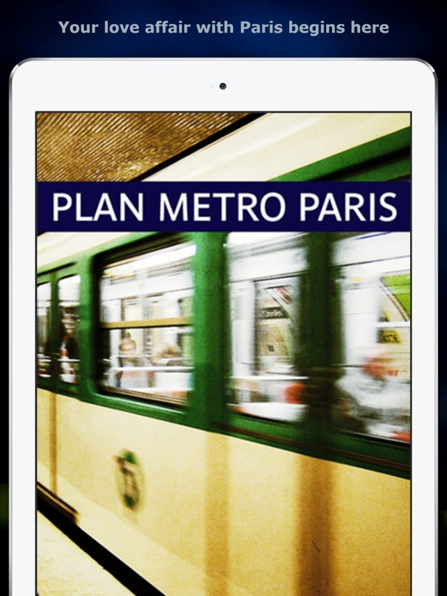 Paris Metro Map on the App