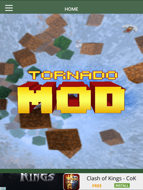 TORNADO MOD - Tornado Mod For Minecraft Game PC Pocket Guide