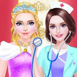 Princess Doctor Care - Royal Hospital Beauty Salon: Girls SPA, Makeup & Dressup Makeover Game