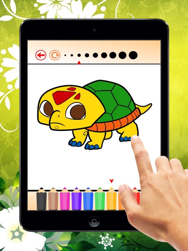 Cocuklar Icin Kaplumbaga Boyama Kitabi Renk Ogrenin Ve Deniz