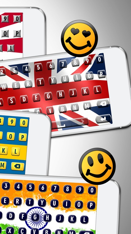 Inter.national Flag Keyboard.s - 2016 Country Flags on Custom Skins with Fancy Fonts for Keyboarding