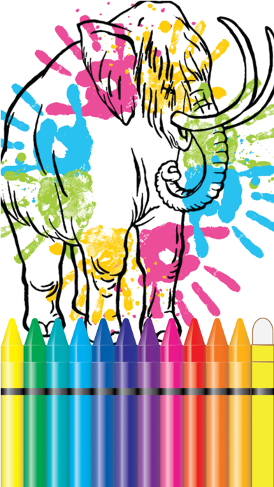 Jurassic Coloring Book World Fifth Edition screenshot one