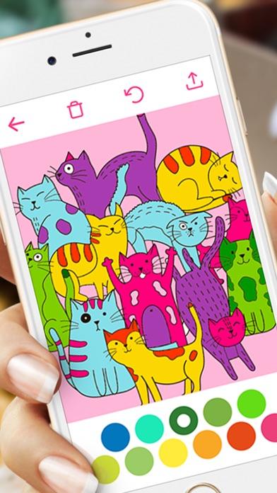 Screenshot 5 For Doodle Coloring Book Adults Kids Free Fun Games