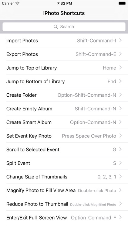 Shortcut: iPhoto Edition